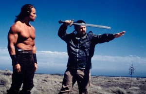 Milius-on-the-set-of-Conan-with-Schwarzenegger (1)