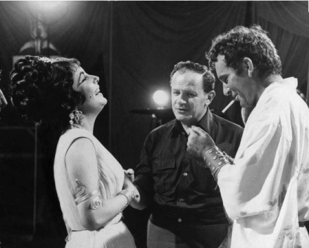 joseph-mankiewicz on cleopatra set