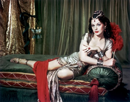 "1949  Hollywood screen goddess, Hedy Lamarr stars in ""Samson and Delilah"" directed by Cecil B. De Mille."